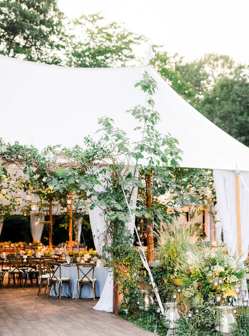Tented Private Estate Wedding Featured on Boston Weddings!